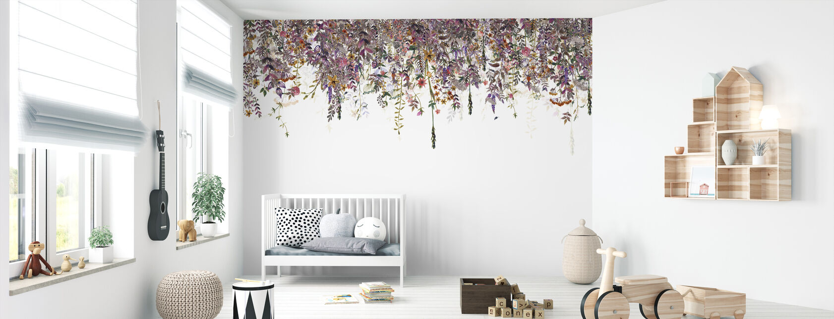 Flowers Fade Pink - Wallpaper - Nursery