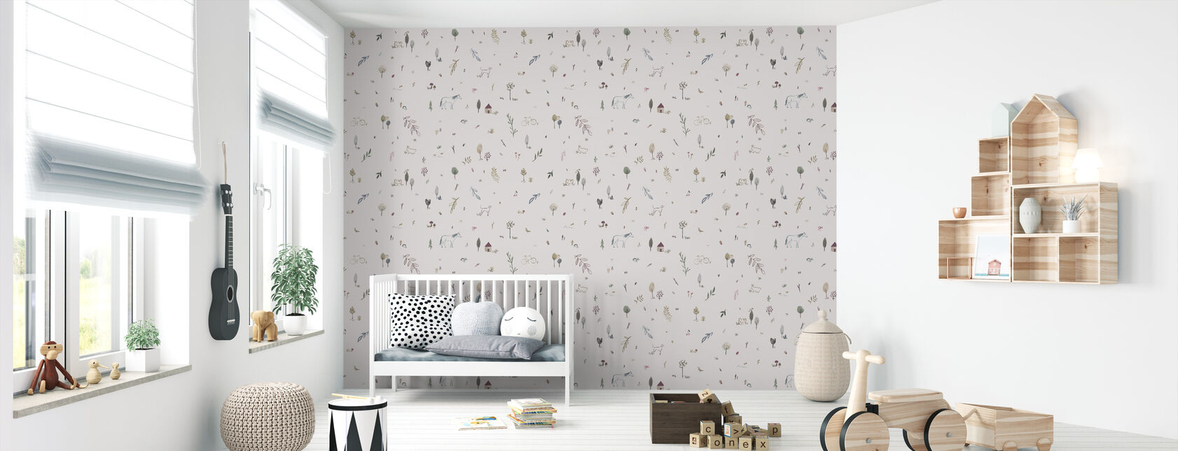 Whimsical Pink - Wallpaper - Nursery
