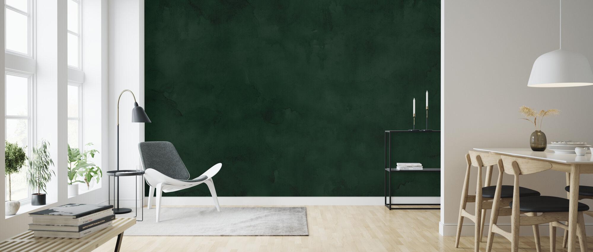 Akvarel - Mørk Emerald - Tapet - Stue
