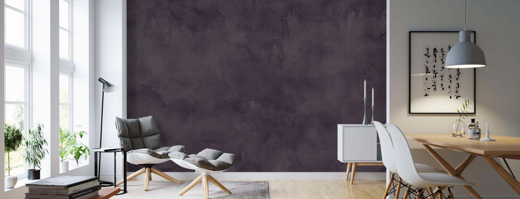 Watercolour - Evening Plum - Wallpaper - Living Room