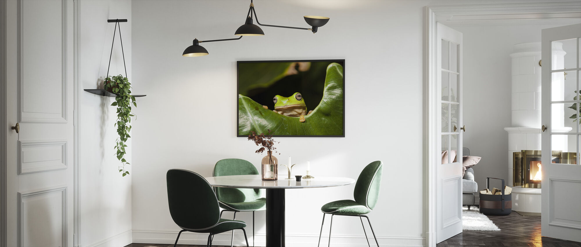Green Tree Frog - Framed print - Kitchen