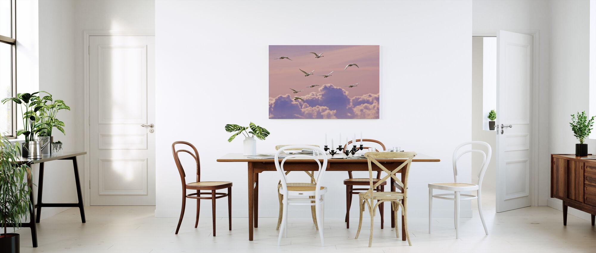 Whooper Swans - Canvas print - Kitchen