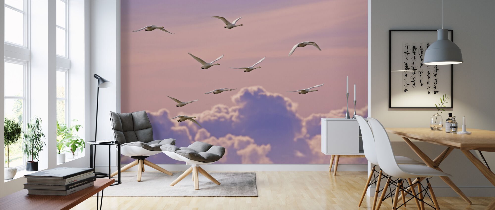 Whooper Swans - Wallpaper - Living Room