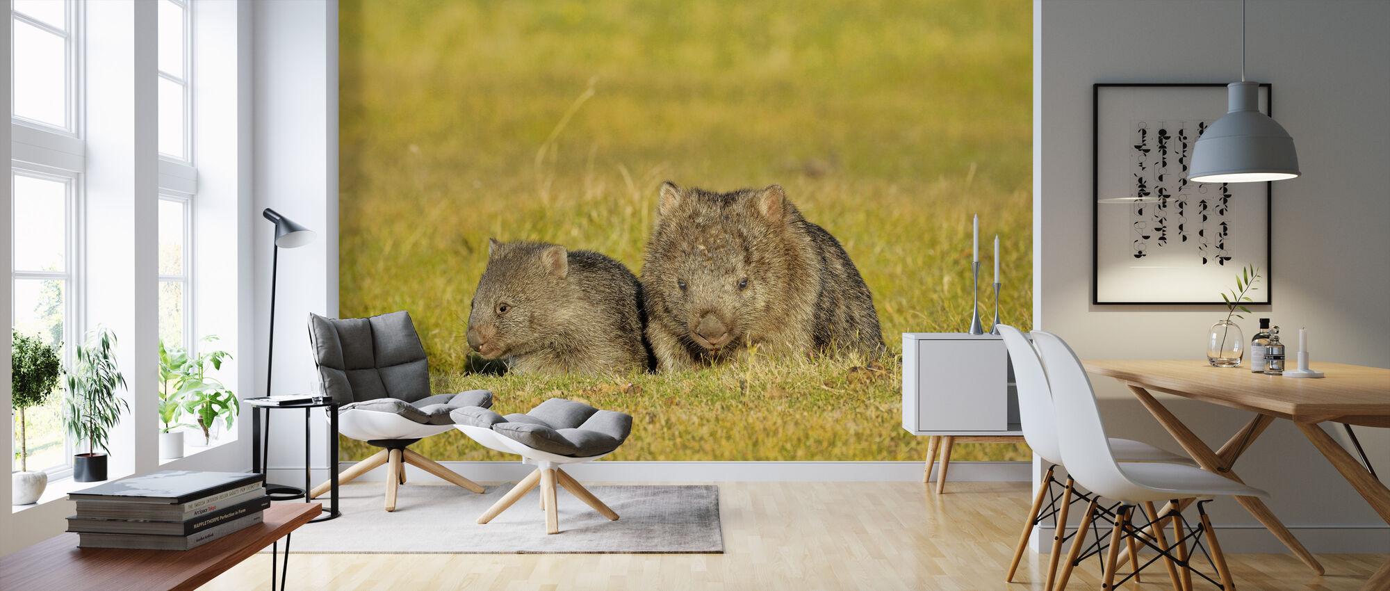 Wombat - Behang - Woonkamer