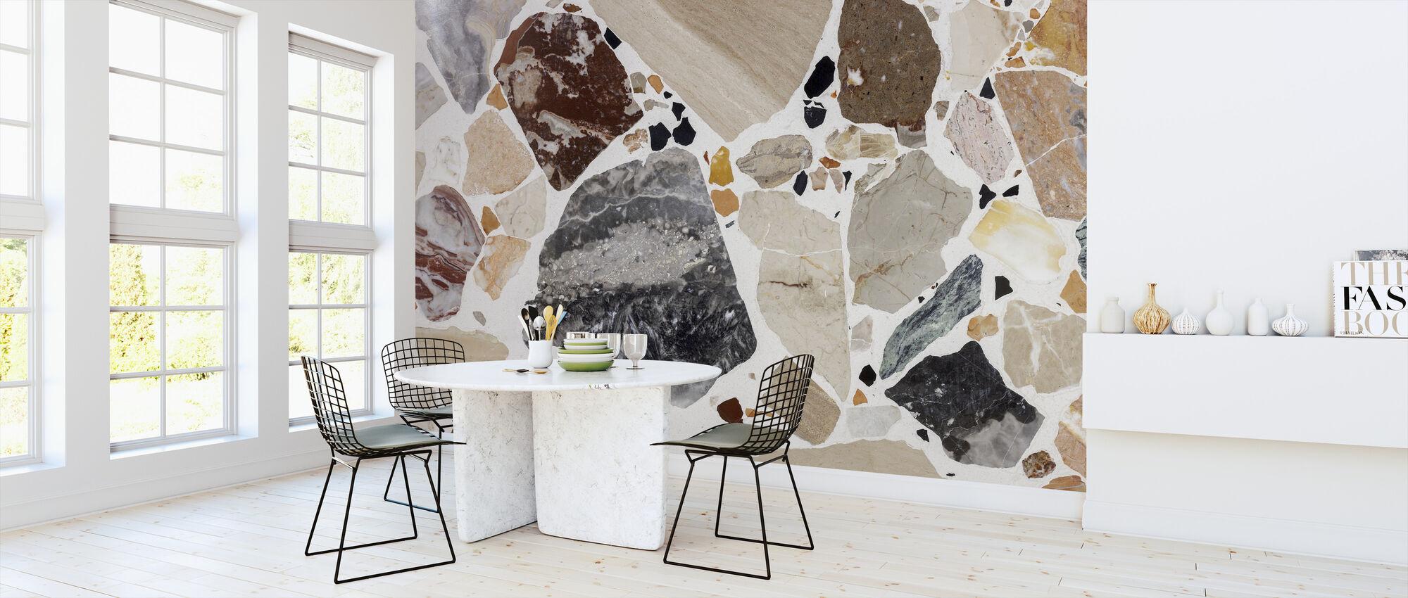 Brown Terrazzo - Wallpaper - Kitchen