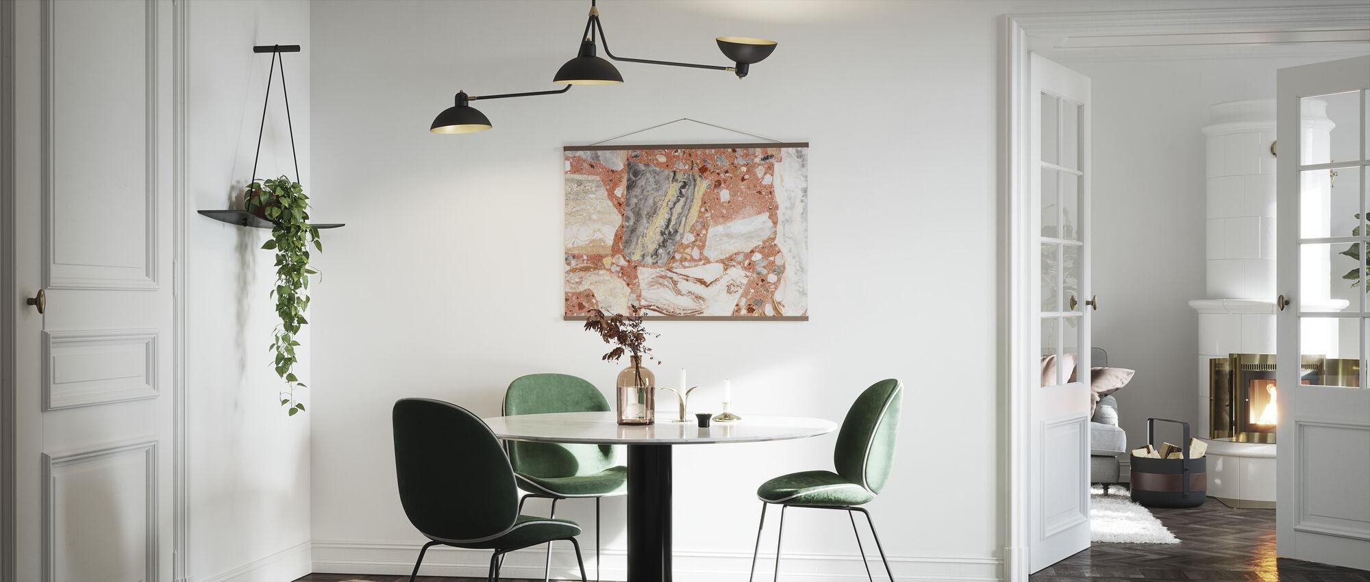 Coral Colored Terrazzo - Poster - Kitchen