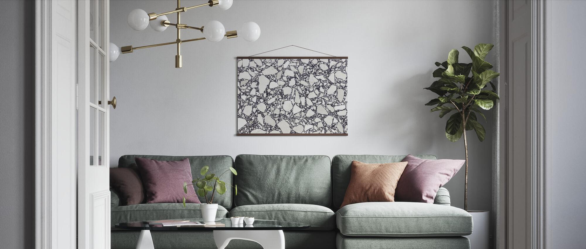 Elegant Terrazzo - Poster - Living Room