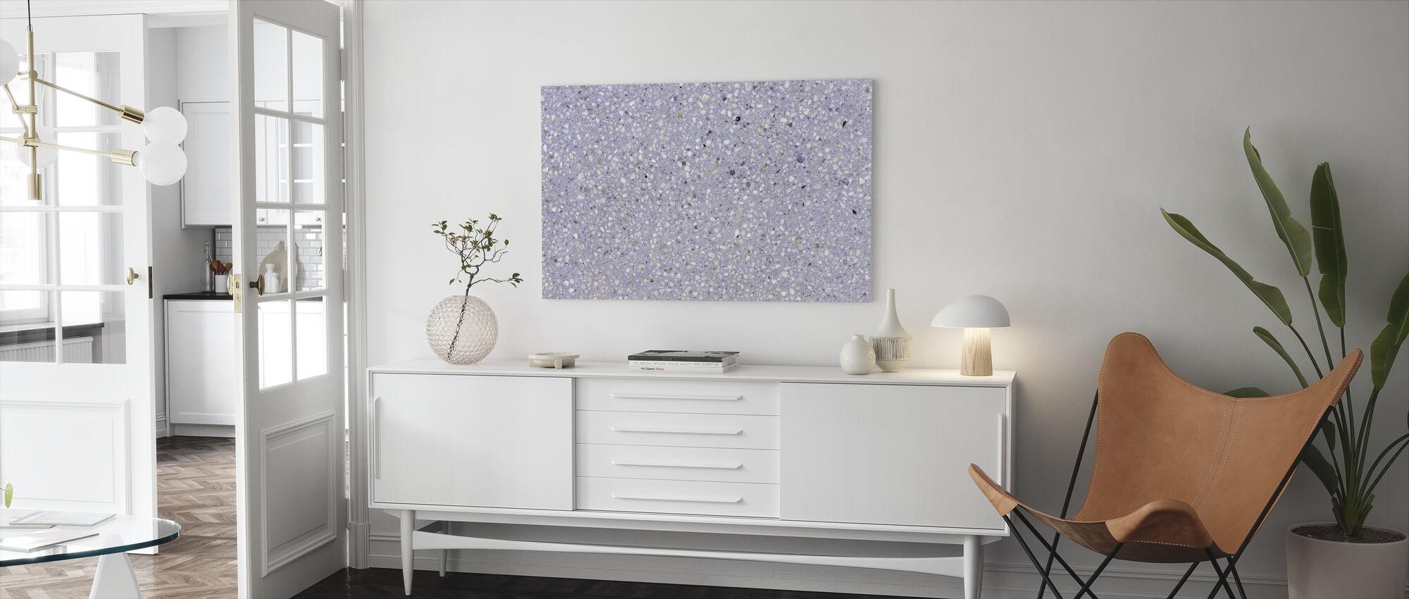 Lavender Terrazzo - Canvas print - Living Room