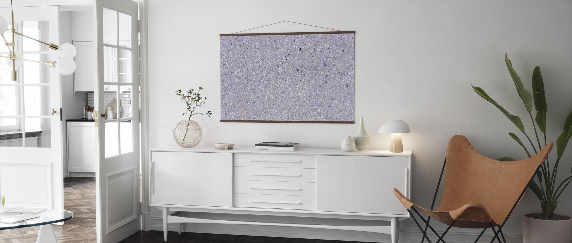 Lavender Terrazzo - Poster - Woonkamer
