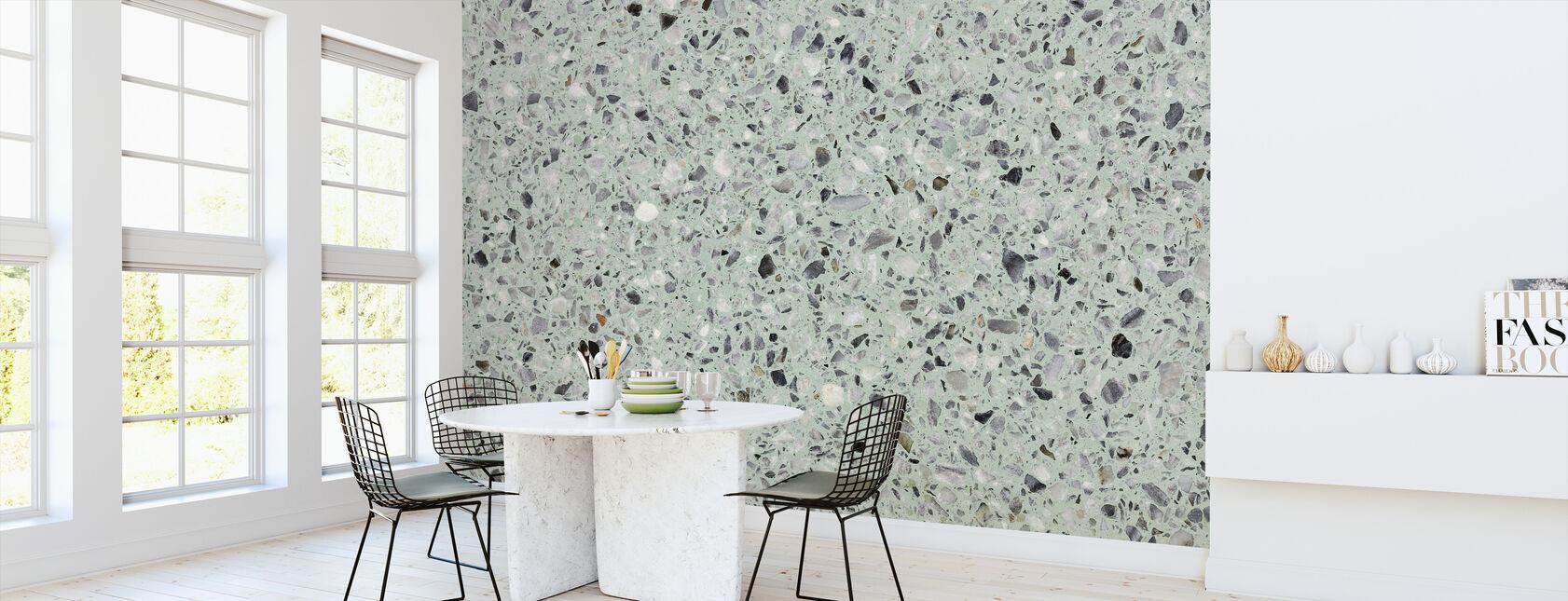 Mint Green Terrazzo - Wallpaper - Kitchen