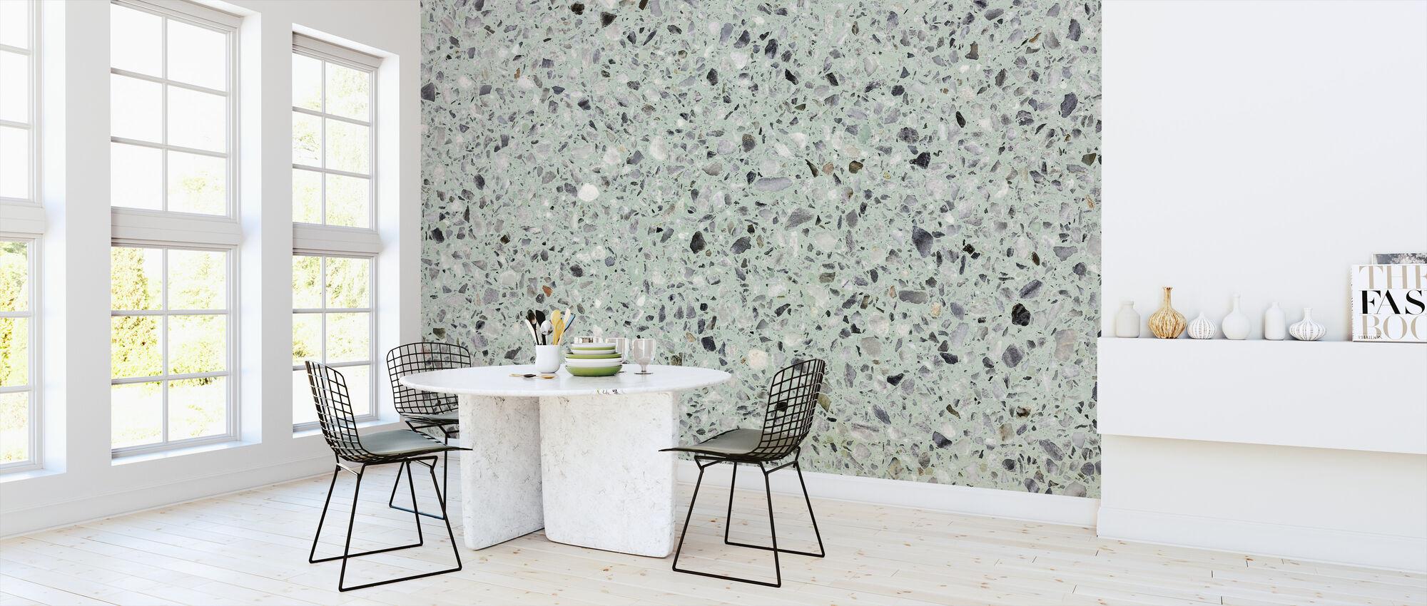 Mynta Grön Terrazzo - Tapet - Kök