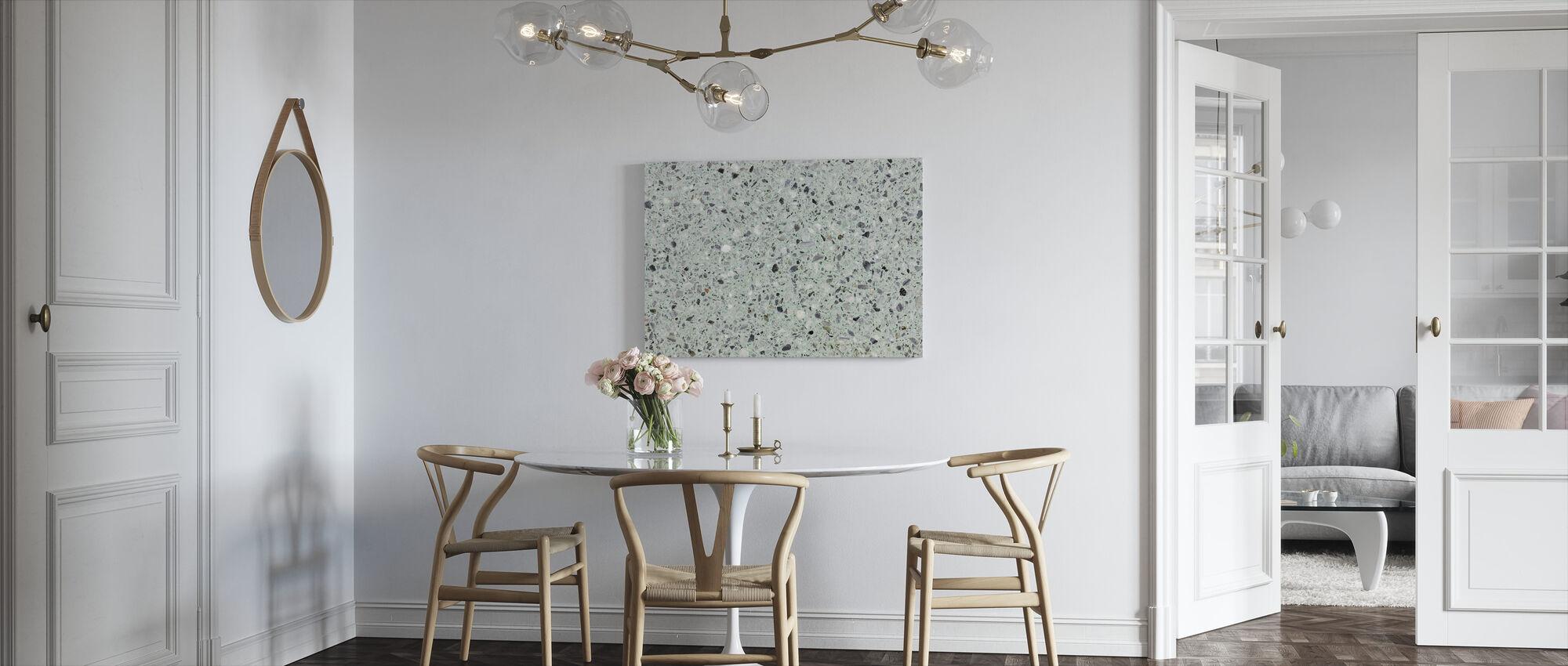 Mint Green Terrazzo - Canvas print - Kitchen