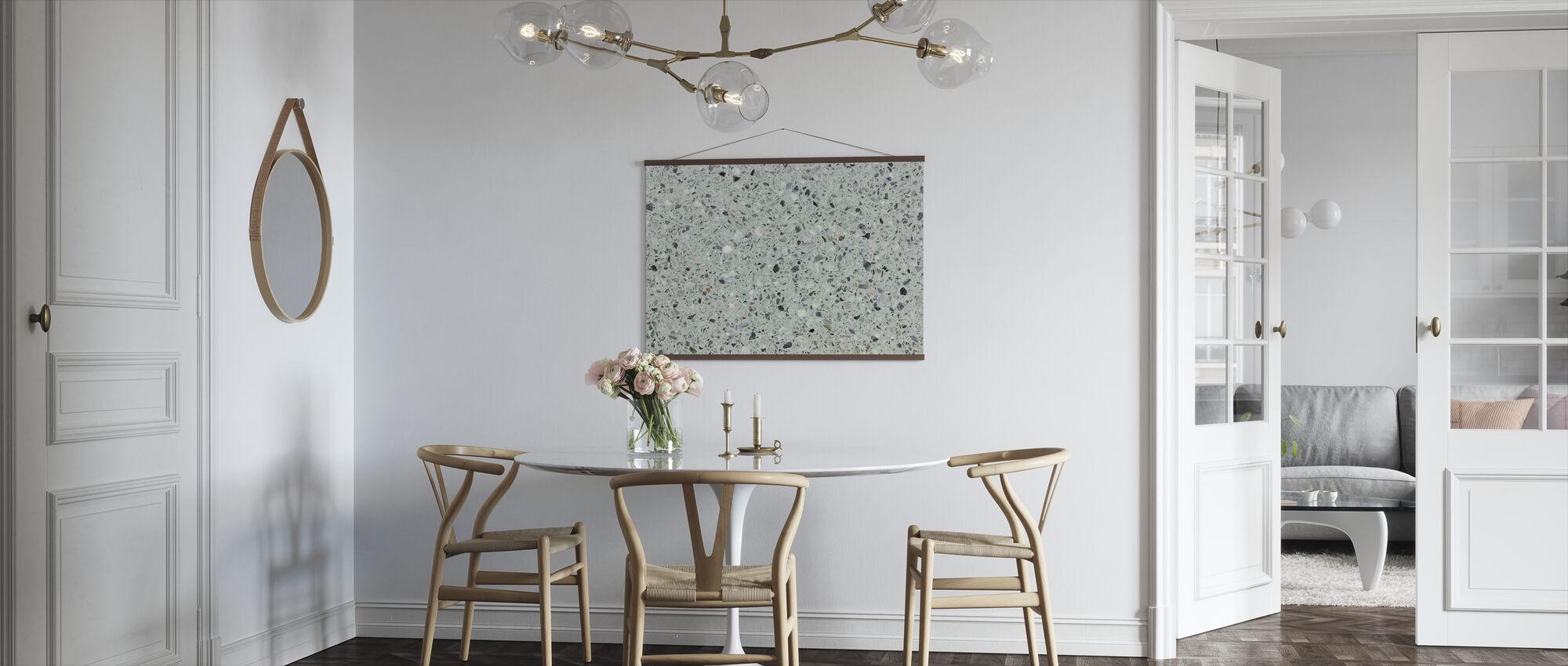 Mint Groen Terrazzo - Poster - Keuken