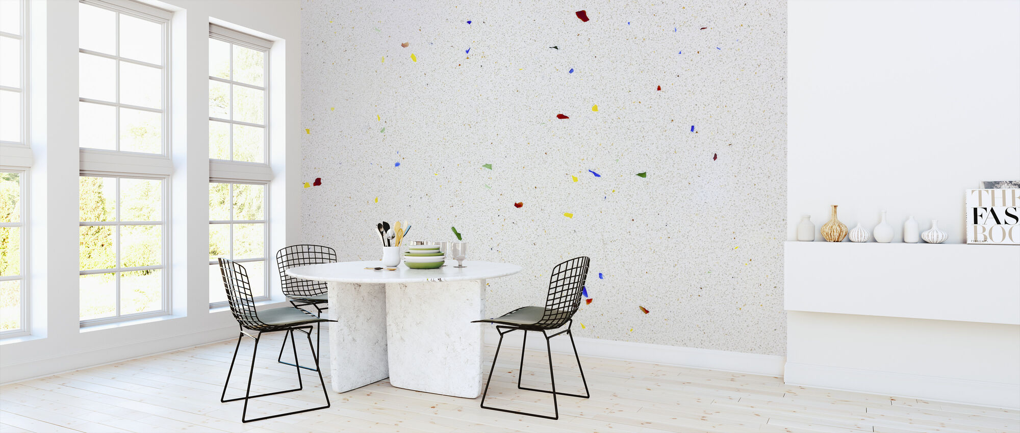 Multi Color Terrazzo - Wallpaper - Kitchen