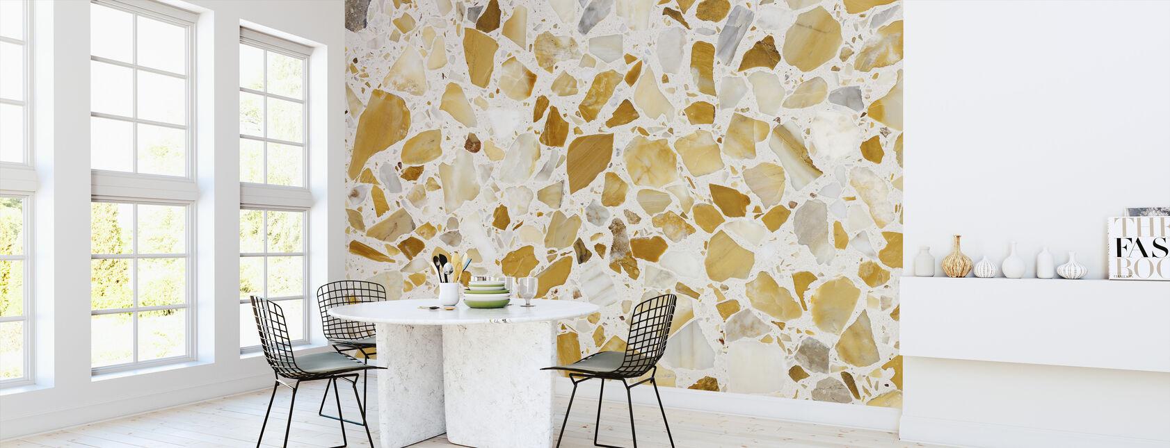 Orange Terrazzo Pattern - Wallpaper - Kitchen