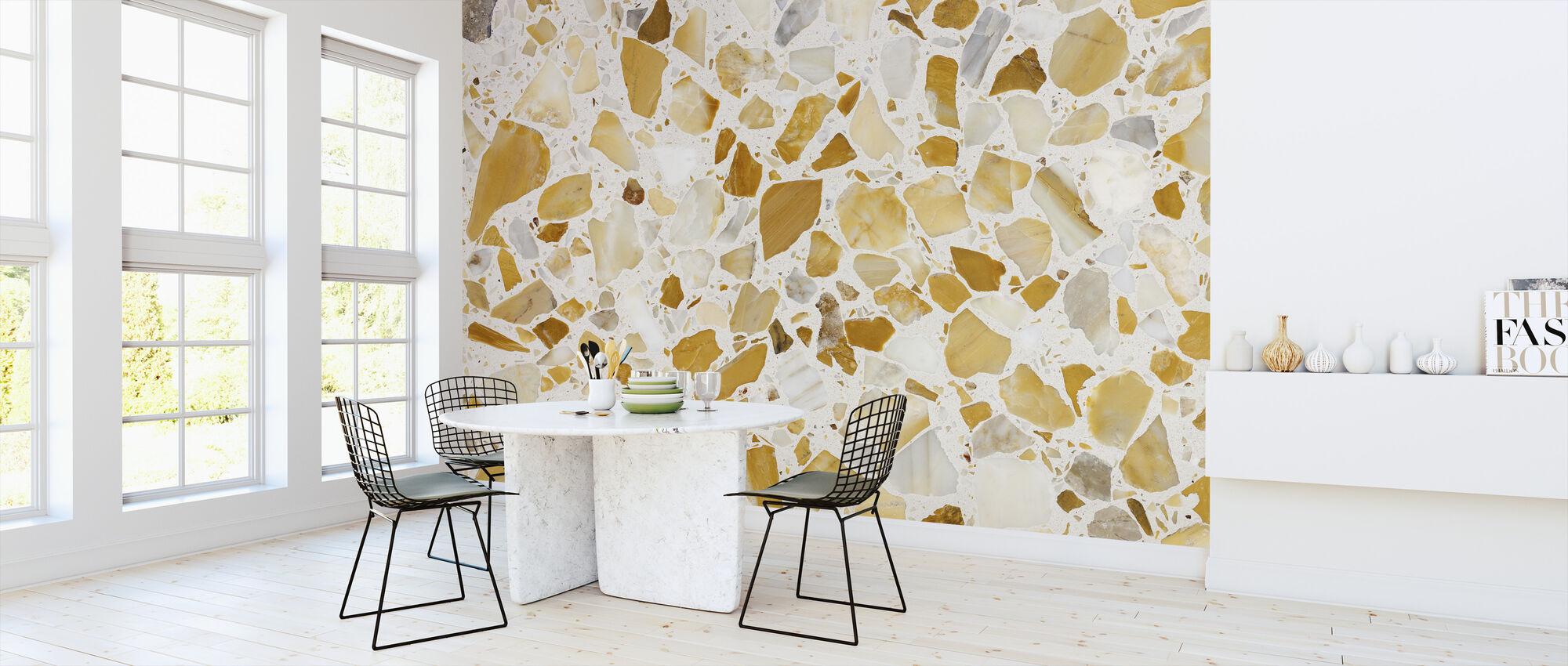 Orange Terrazzo mönster - Tapet - Kök