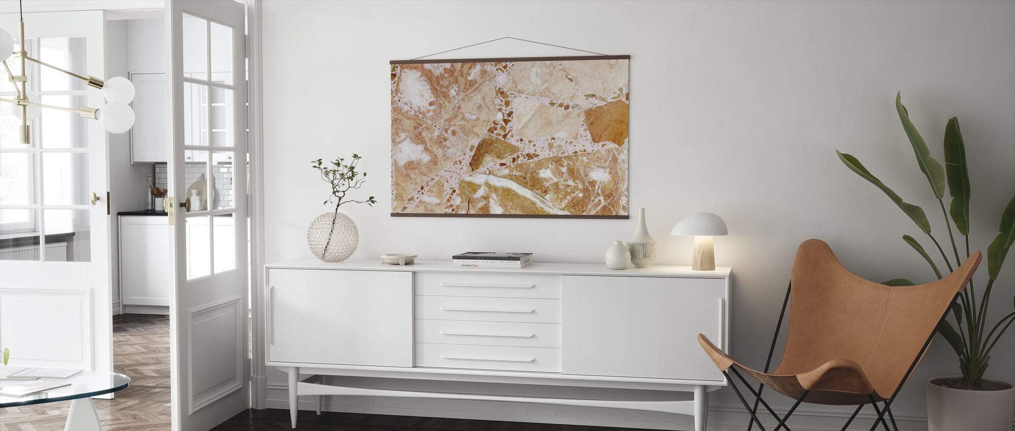 Orange Terrazzo - Poster - Living Room