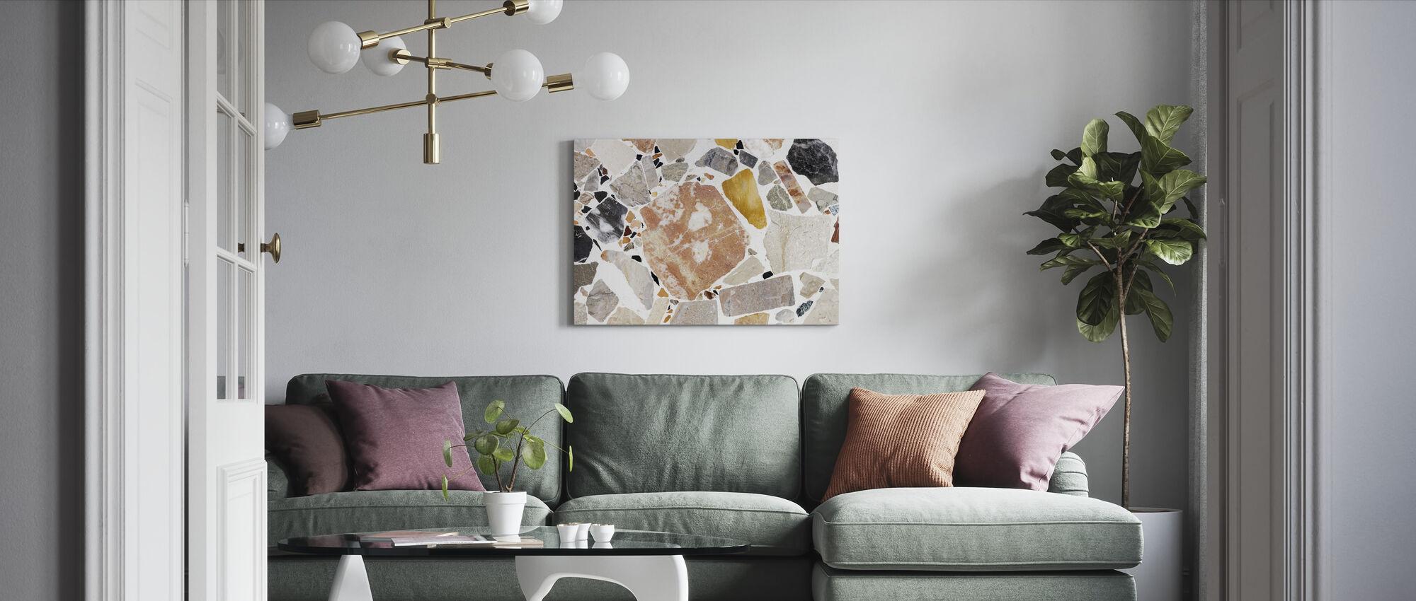 Varm Terrazzo - Leinwandbild - Wohnzimmer