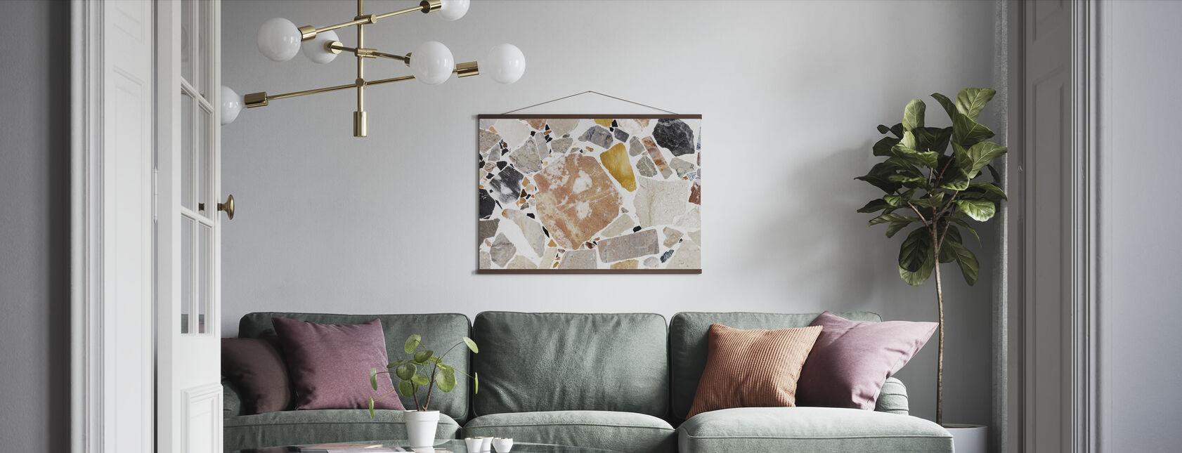 Varm Terrazzo - Poster - Wohnzimmer