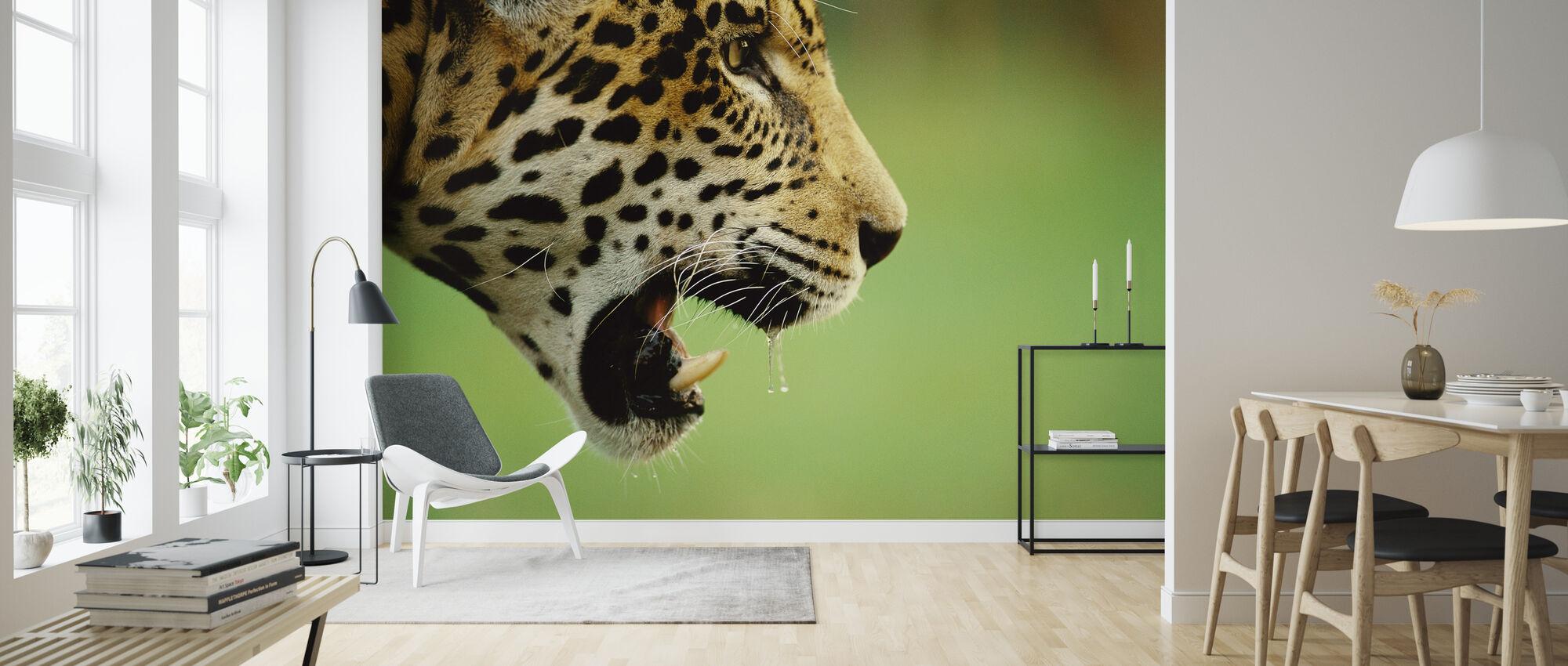 Jaguar Hoofd - Behang - Woonkamer