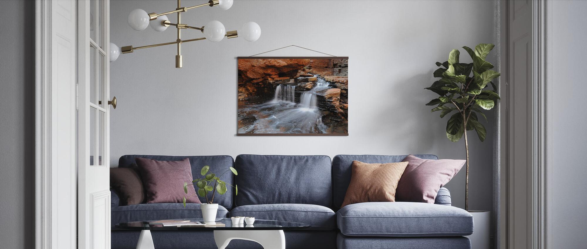 Cascade Stromend - Poster - Woonkamer