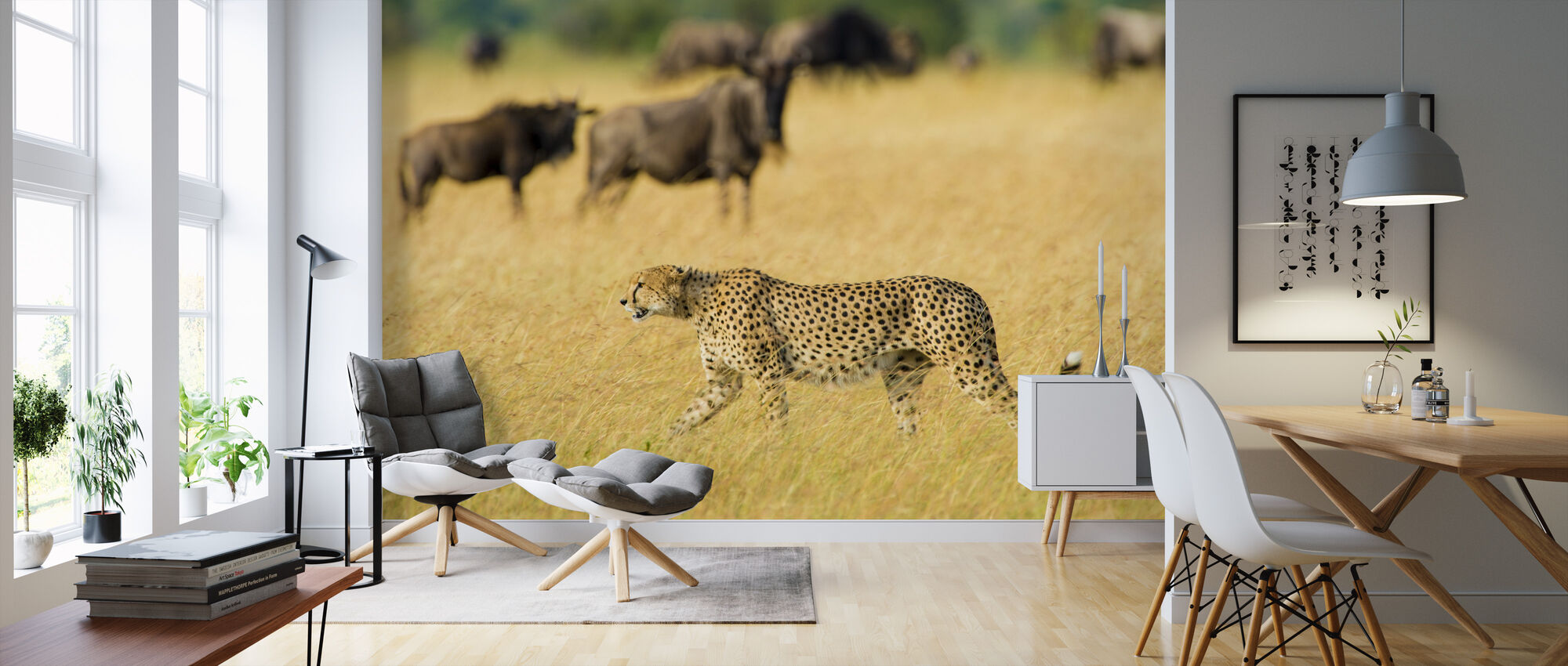 Walking Cheetah - Wallpaper - Living Room