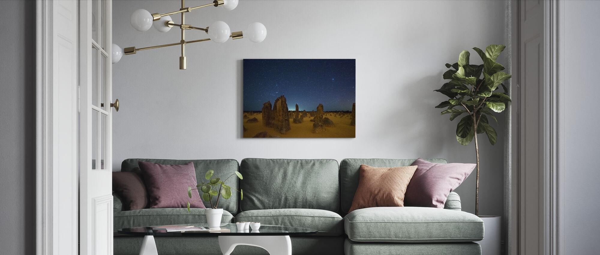 Pinnacles at Night - Canvas print - Living Room
