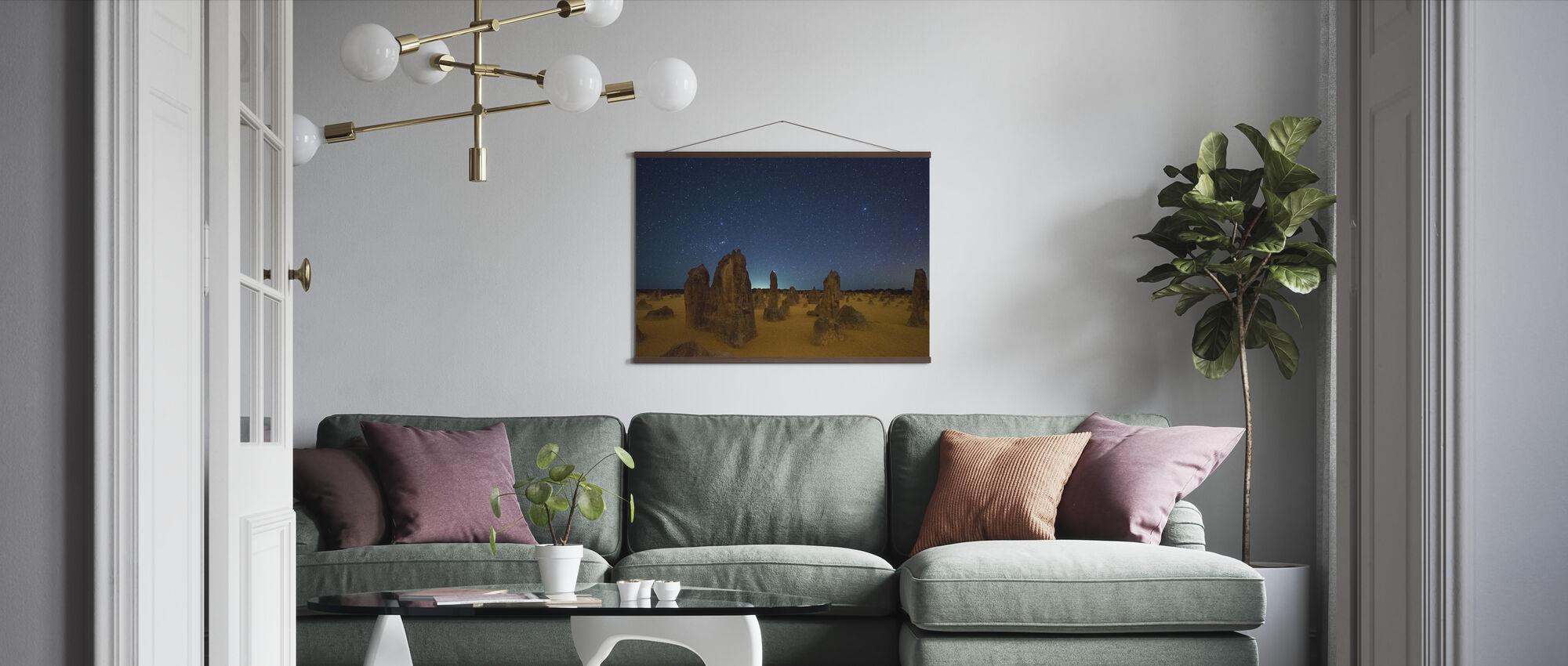 Pinnacles at Night - Poster - Living Room