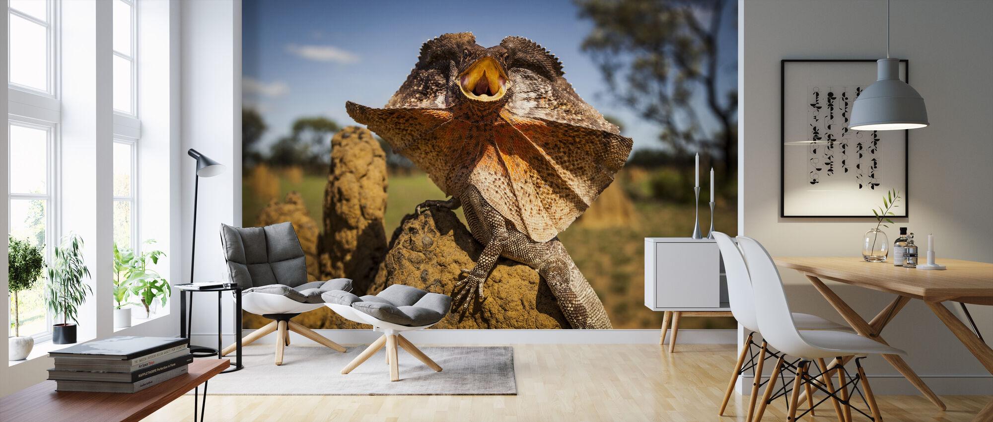 Frill Neck Lizard - Wallpaper - Living Room