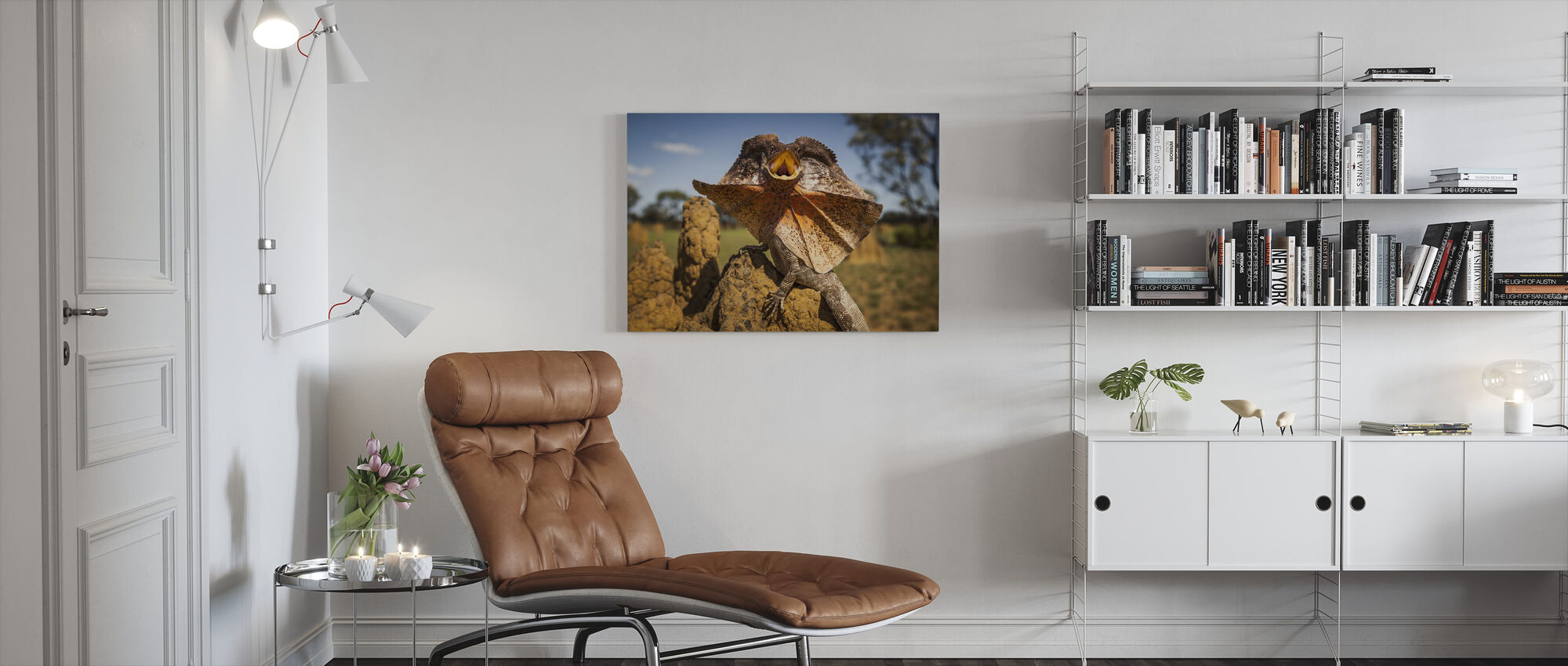 Frill Neck Lizard - Canvas print - Living Room
