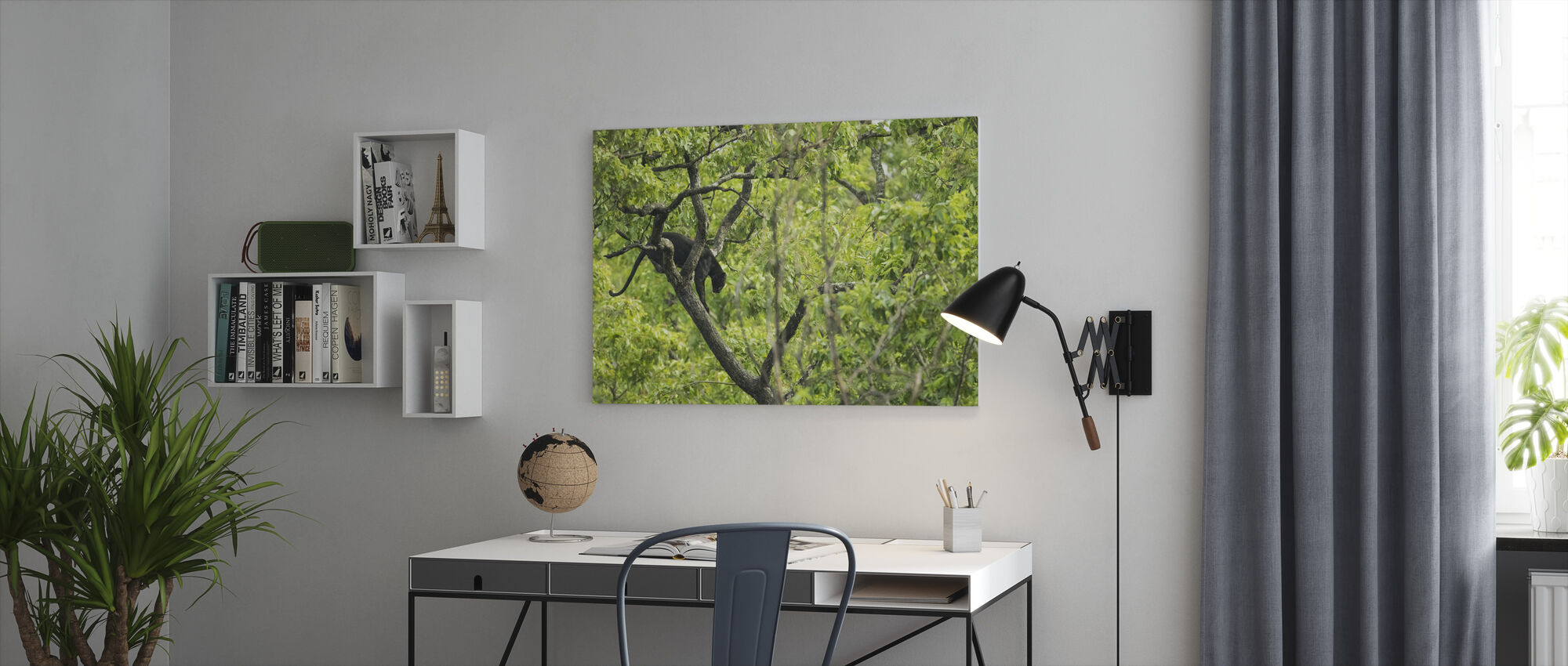 Black Panther in Tree - Canvas print - Office