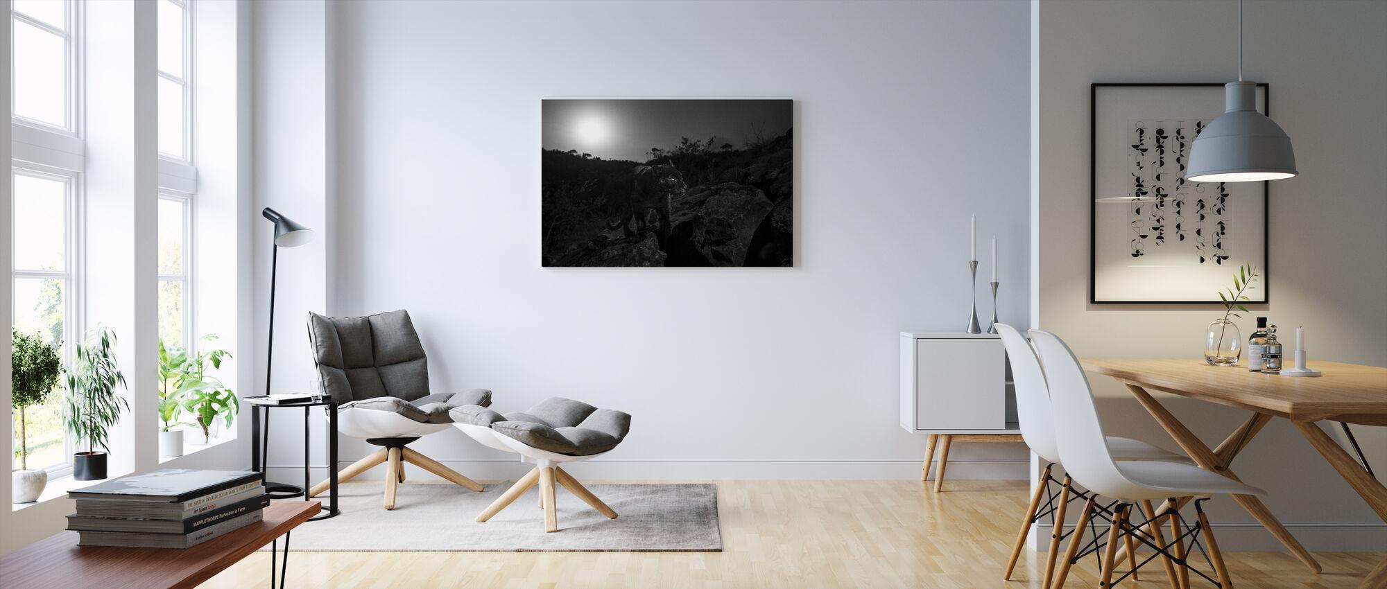 Melanistisch Luipaard - Canvas print - Woonkamer