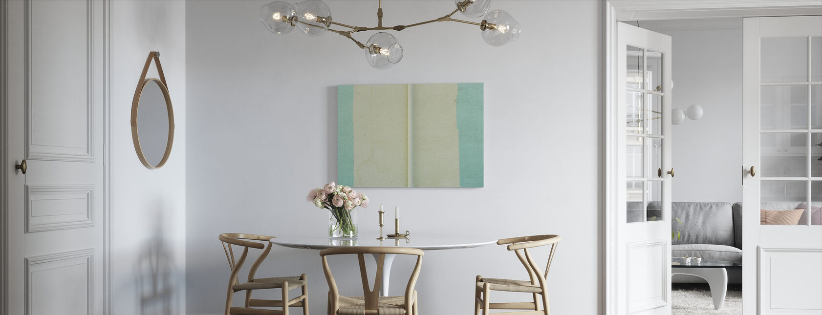 Painted Wall - Canvas print - Kitchen