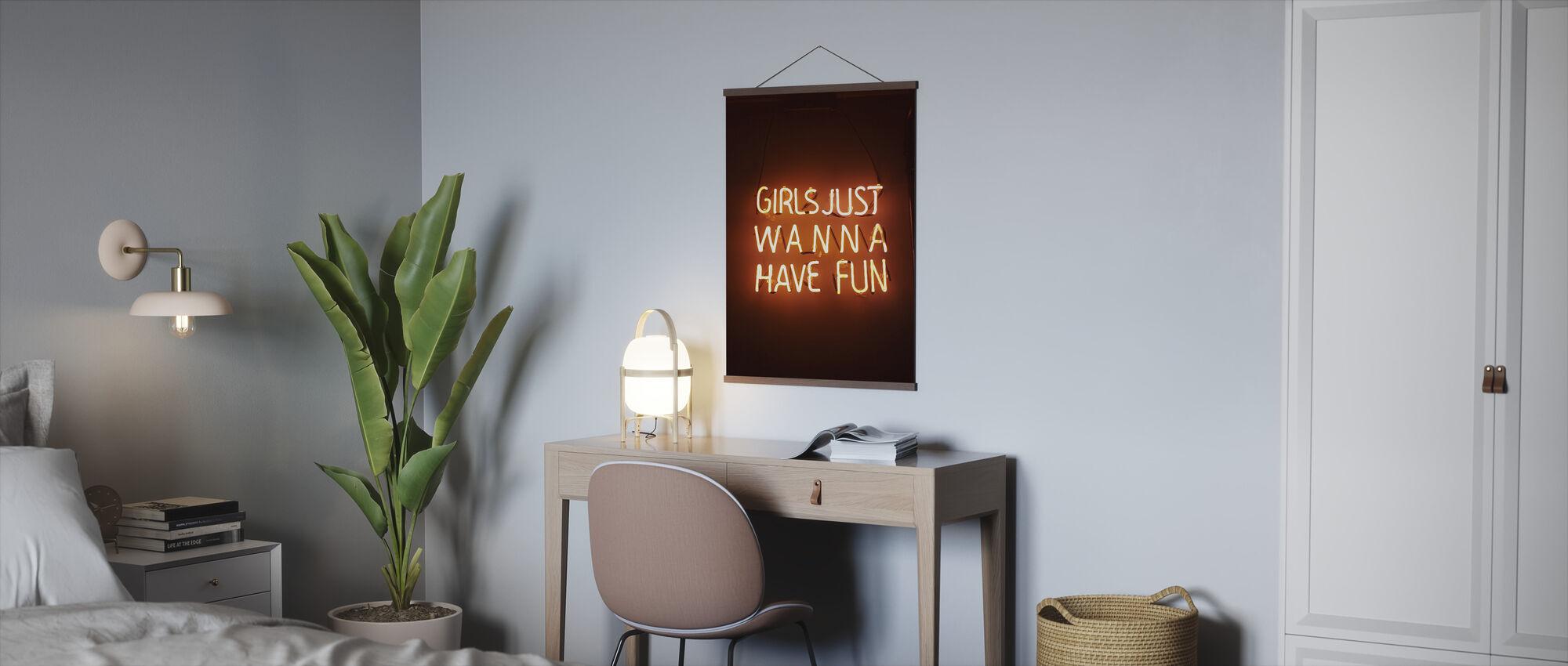 Orange Lights - Poster - Office