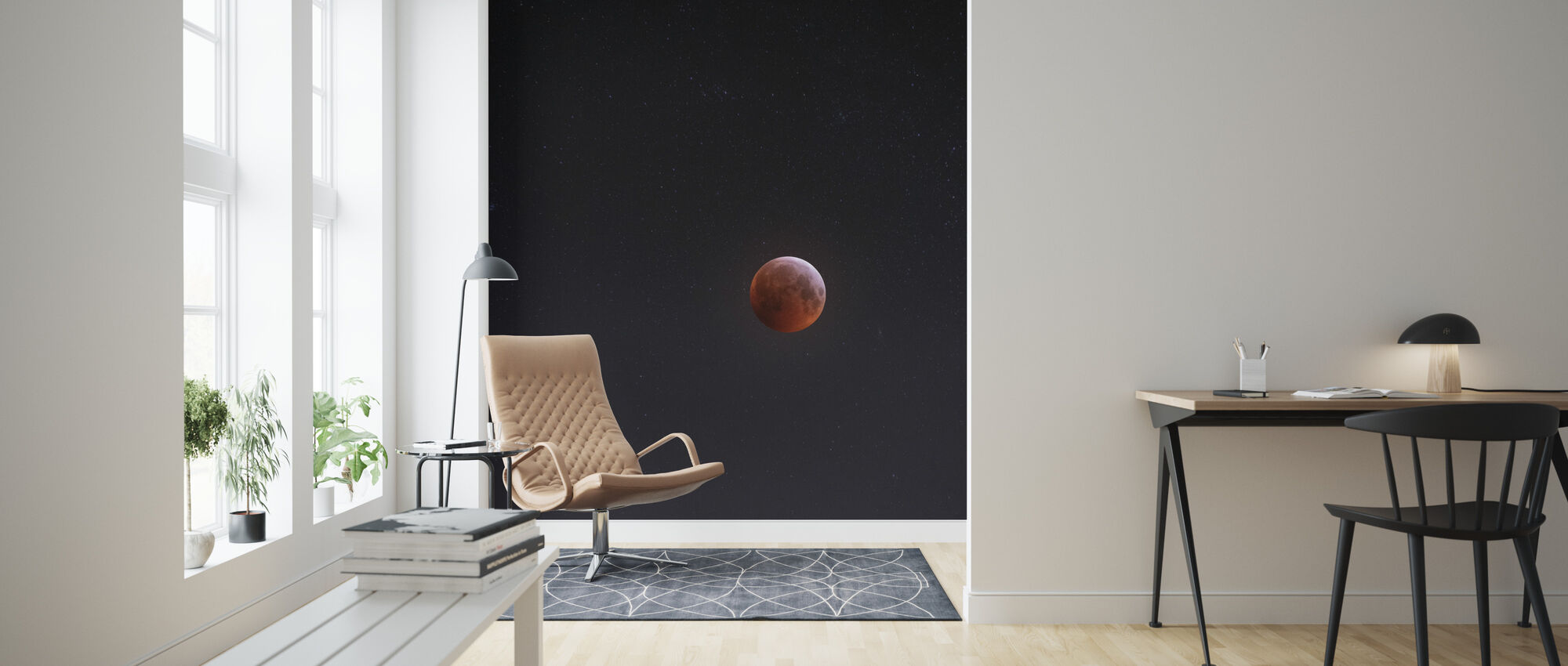 Lunar Eclipse - Wallpaper - Living Room