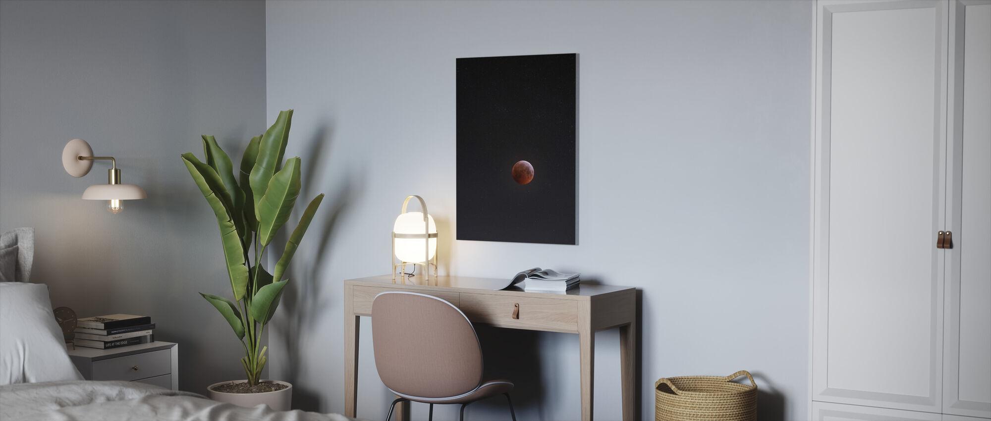 Lunar Eclipse - Canvas print - Office