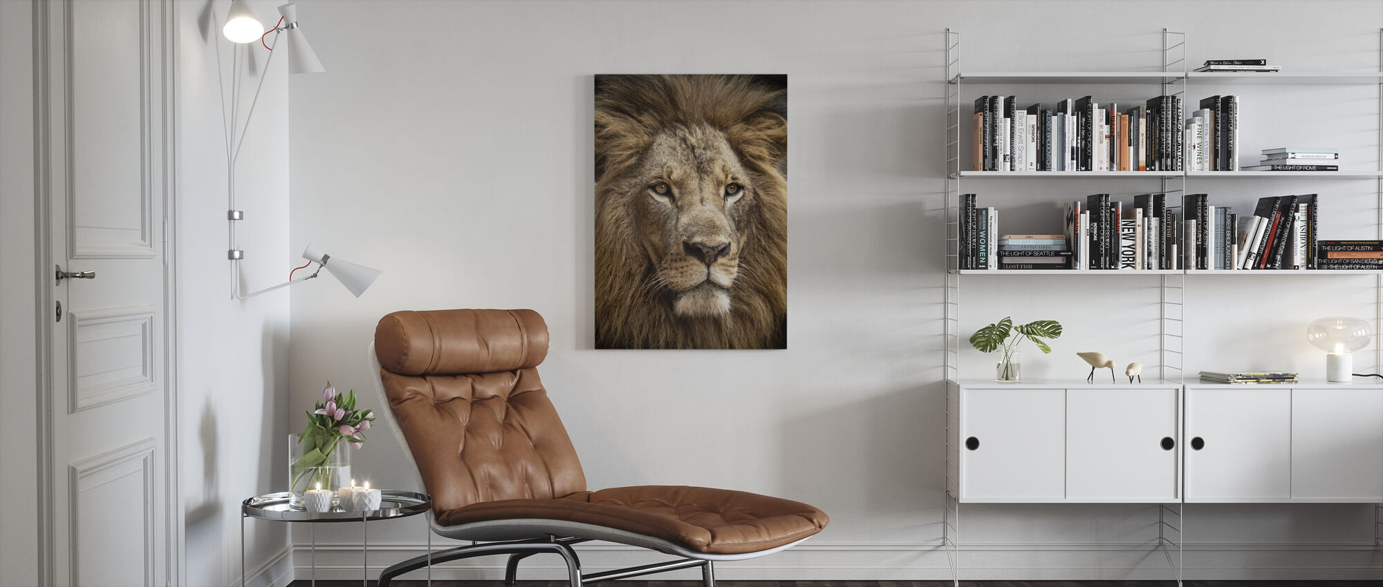 Stunning Lion - Canvas print - Living Room