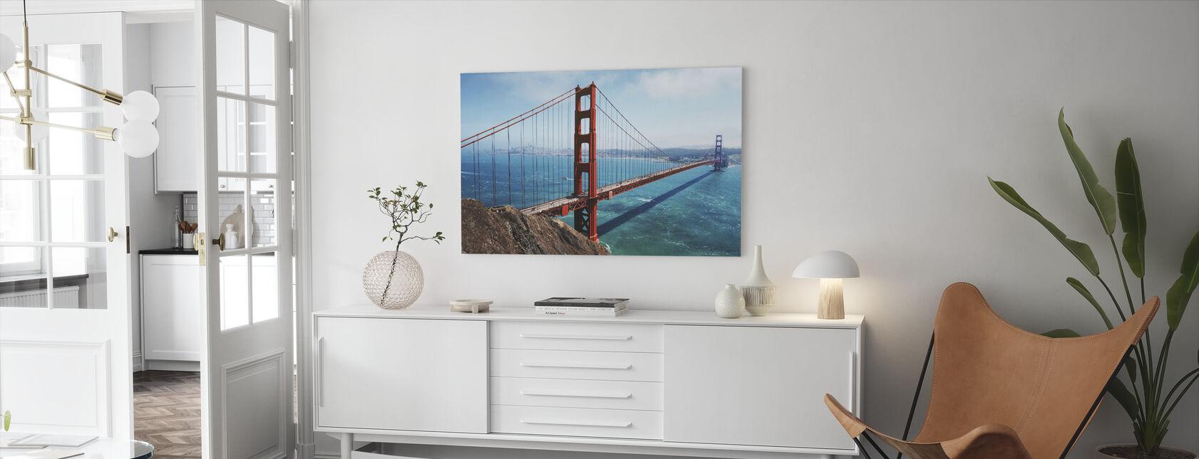 Golden Gate Bridge - Billede på lærred - Stue