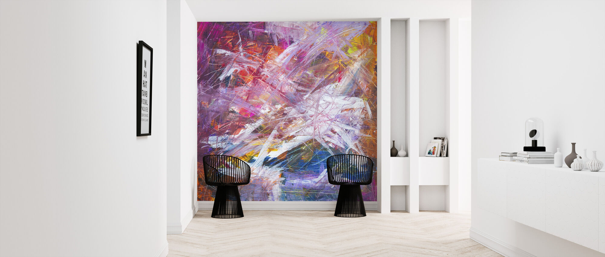 Abstract Painting - Wallpaper - Hallway
