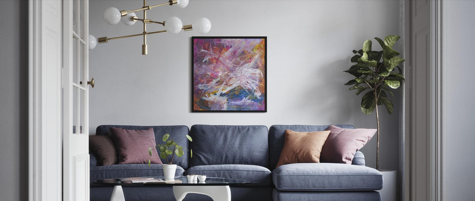 Abstrakt målning - Inramad tavla - Vardagsrum