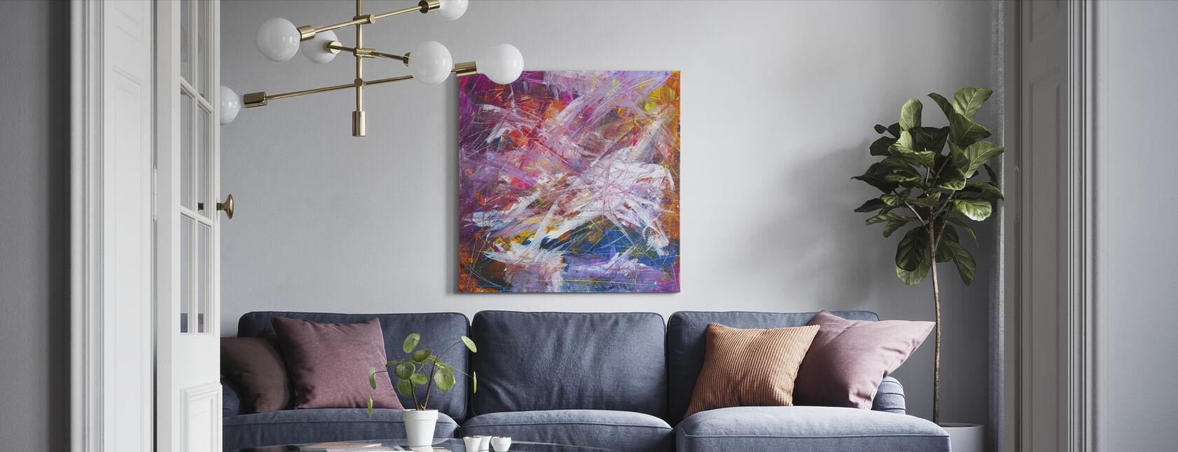 Abstract Schilderij - Canvas print - Woonkamer
