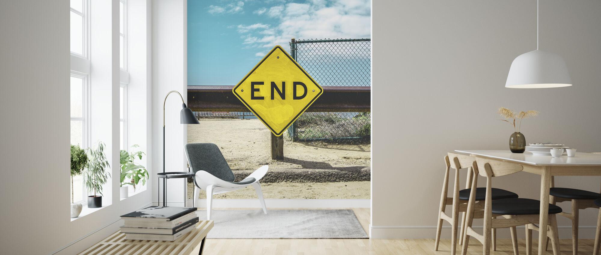 End Sign - Wallpaper - Living Room