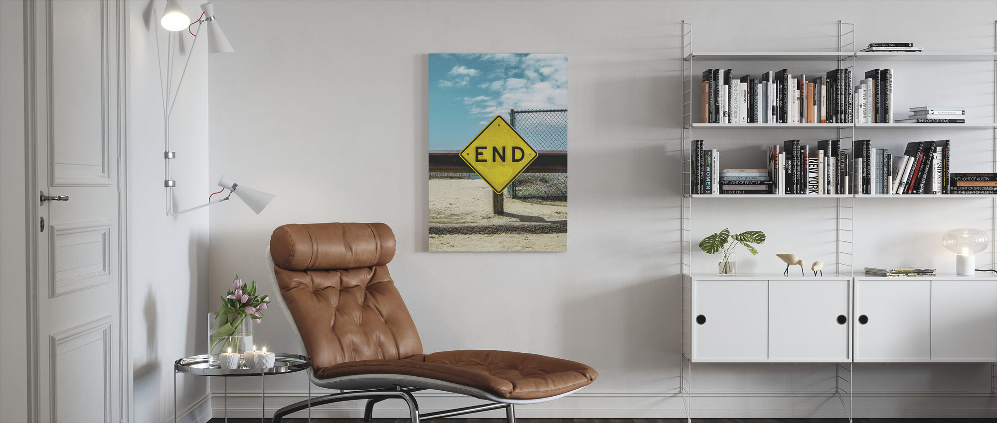 End Sign - Canvas print - Living Room