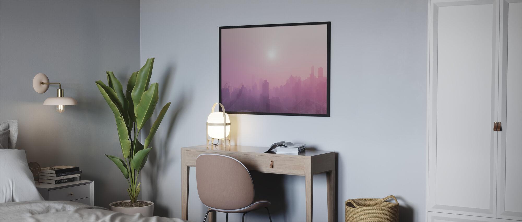 Pink Sky - Framed print - Bedroom