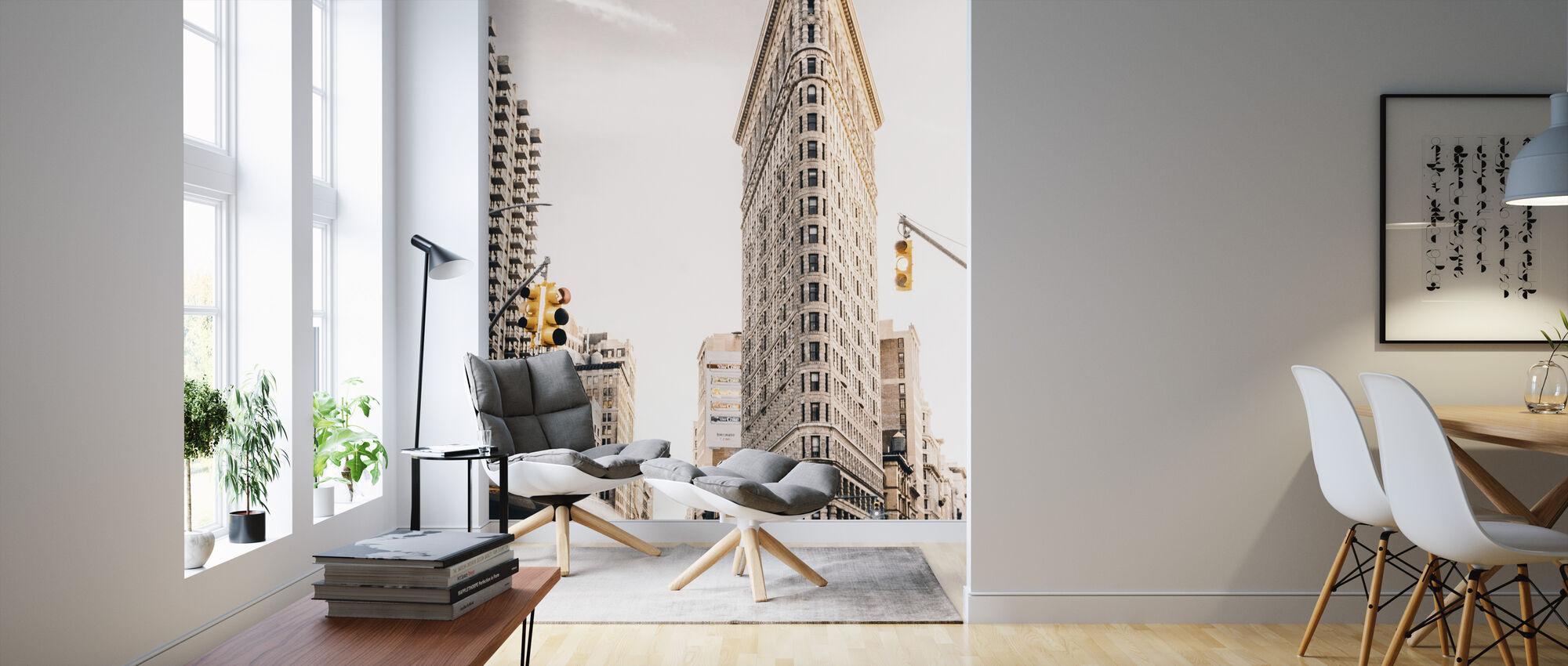 Flatiron District - Wallpaper - Living Room