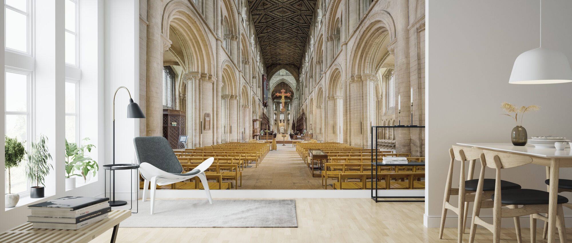 Cathedral Church - Wallpaper - Living Room