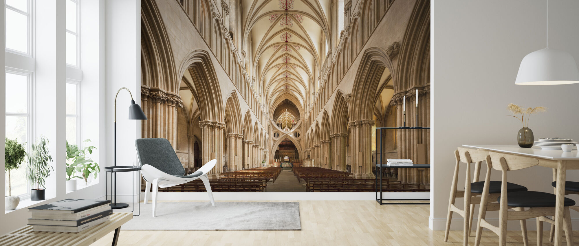 Wells Cathedral - Wallpaper - Living Room