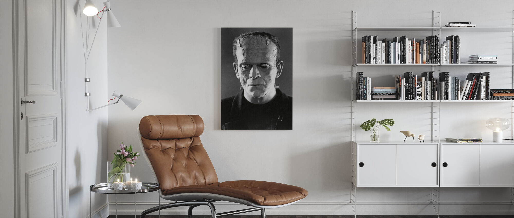 Boris Karloff in the Bride of Frankenstein - Canvas print - Living Room