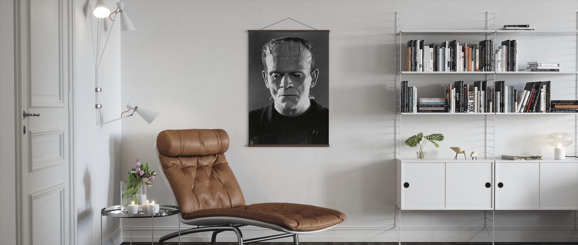 Boris Karloff in the Bride of Frankenstein - Poster - Living Room