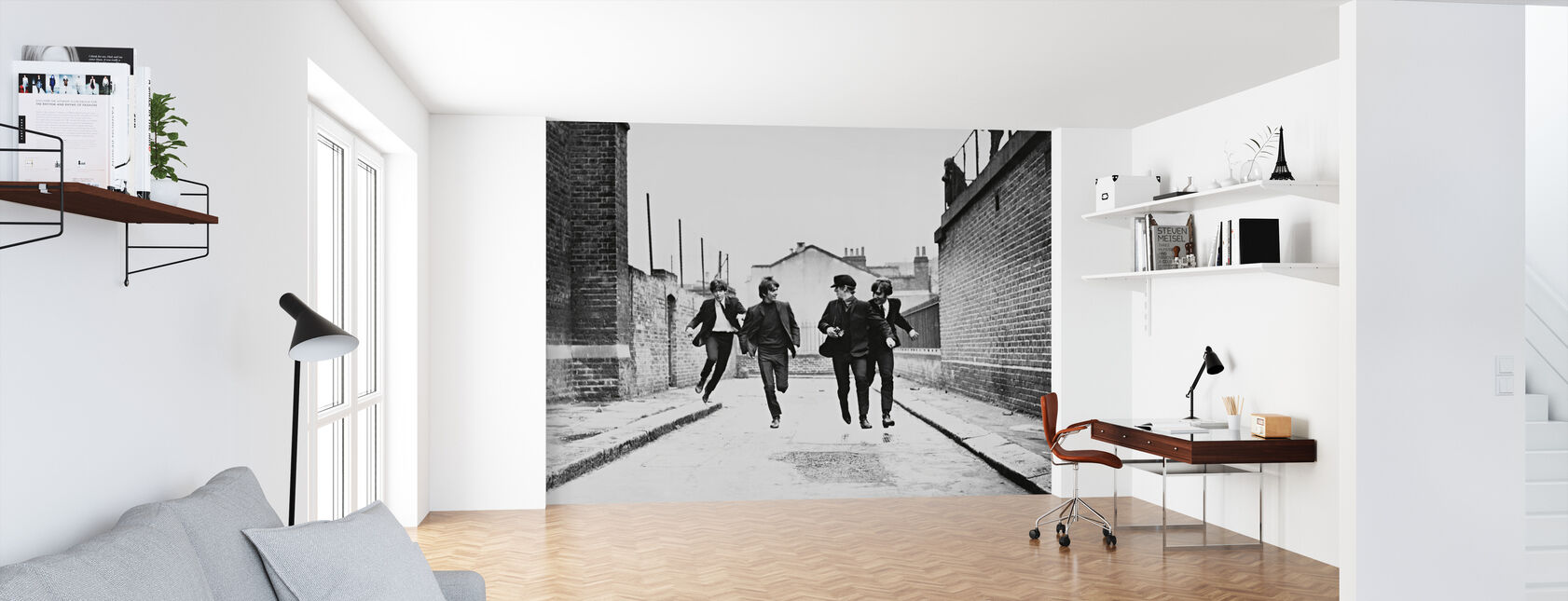 Beatles in a Hard Days Night - Wallpaper - Office
